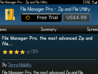File Manager Pro 1.7.0.2 for Blackberry
