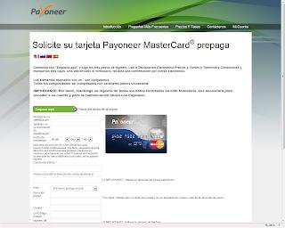 Completar formulario payoneer - Explicado por Argendolar