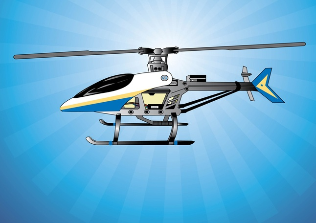 Free Helicopter Vector Graphics Illustration