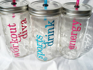 Style Athletics Etsy Workout Fitness Items Bittersweet Lemonade Glass Mason Jar Water Bottle