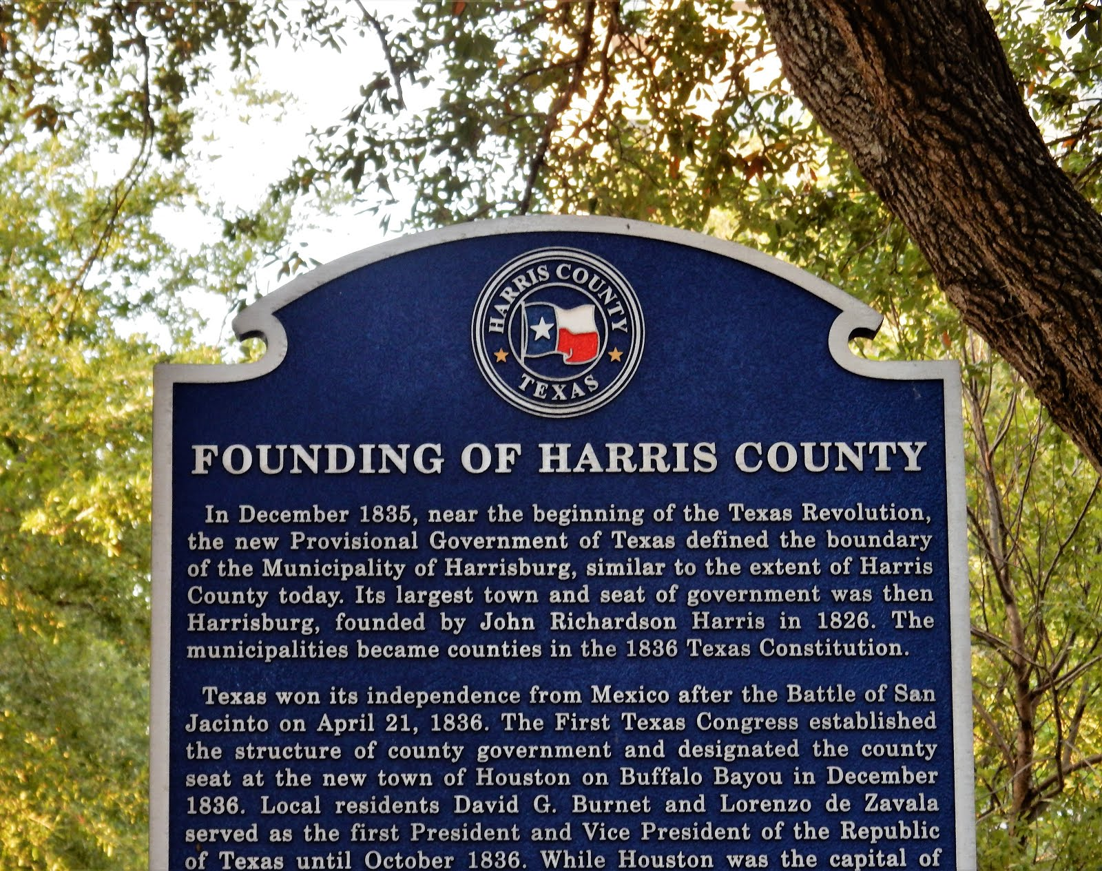 The Founding of Harris County