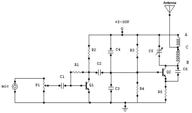 1 1 watt simple fm transmitter with 1 2 km range! ~ fm transmitter simple fm transmitter circuit diagram at gsmx.co