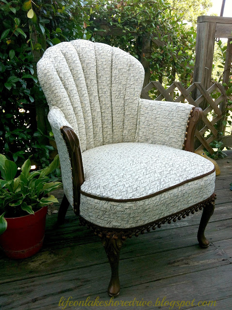 "alt=""antique chair makeover martha stewart metallic bronze paint"""