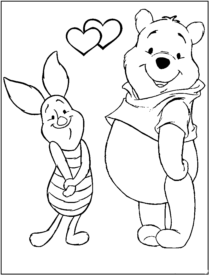 VALENTINE'S DAY coloring pages Hellokids  - valentines coloring sheets