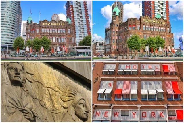 Hotel New York en Rotterdam y detalles fachada