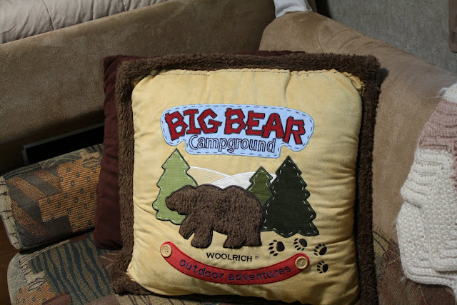 Big Bear Pillow, trailer decor