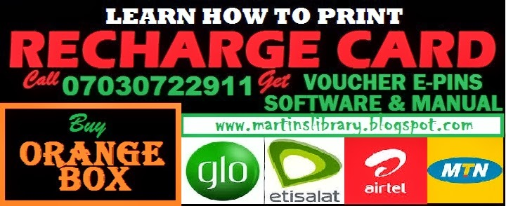 recharge card printing manual The recharge cards' printing business in nigeria is the sum total of all activities involving not only the printing of recharge cards of all telecommunication networks in nigeria ie mtn,glo if you apply the system in the e-manual and you can not print recharge vouchers on your own i will.