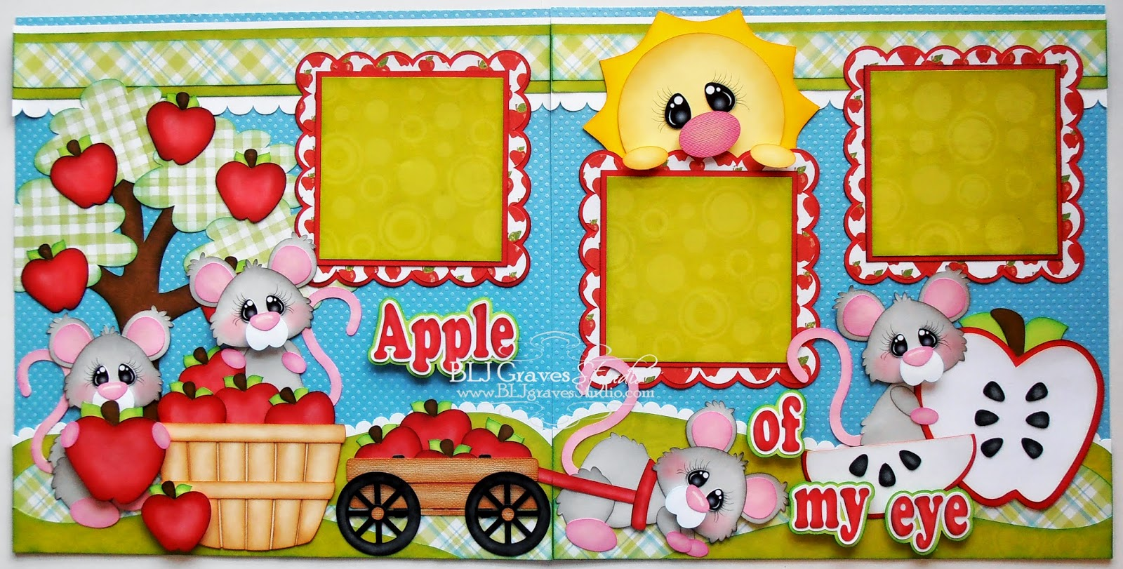How to design scrapbook layouts - Today I Have A Double Page Scrapbook Layout Using The Adorable Mice From Little Scraps Of Heaven Designs Files Used Apple Picking Mice