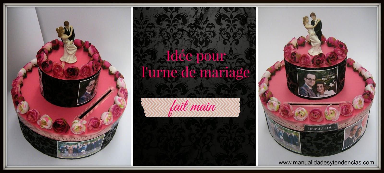 idée urne de mariage fait main