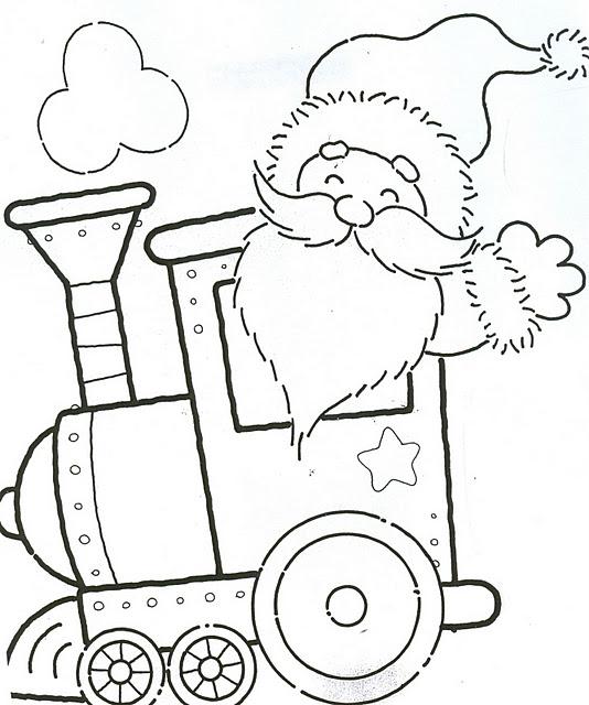 Ba l de navidad tren de navidad infantil para colorear for Decorar baul infantil