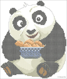 Baby Po, Kung Fu Panda, cartoon, cross-stitch, back stitch, cross-stitch scheme, free pattern, x-stitch, stitch, free, вышивка крестиком, бесплатная схема, хрестик, punto croce, schemi punto croce gratis, DMC, blocks, symbols