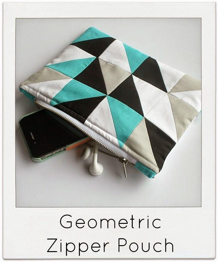http://www.sewdelicious.com.au/2014/05/geometric-zipper-pouch-tutorial.html