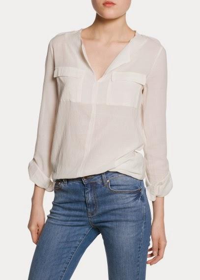 camisa blanca mango