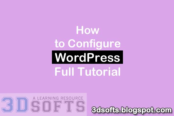 Configure WordPress Website