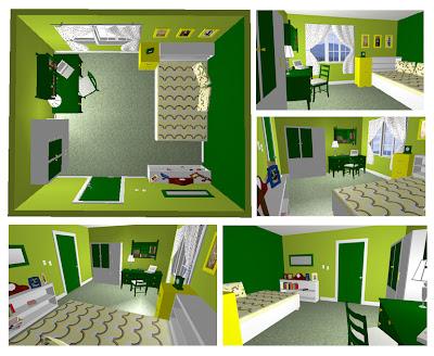kontentika desain kamar tidur untuk pecinta hijau