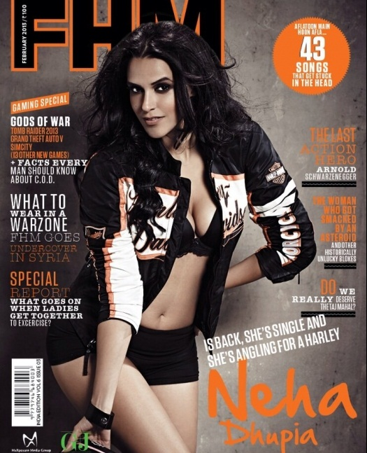 Neha Dhupia Cover FHM Magazine Cover – Feb 2013
