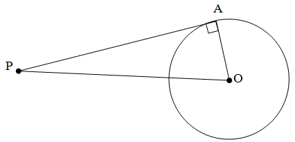 Menentukan Panjang Garis Singgung yang Melalui Satu Titik Di Luar Lingkaran