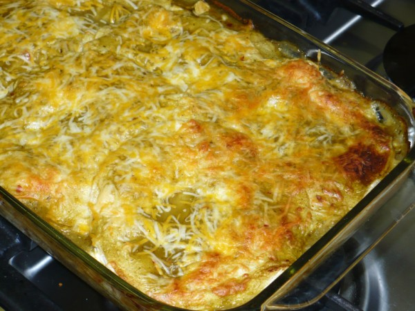 this is another version of chicken enchilada casserole much easier ...