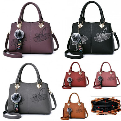 MULTIFUNCTION BAG - PURPLE , BLACK , GREY , RED , DUSTY PINK , BROWN