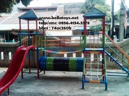 playground model 2 dengan terowongan di bawah