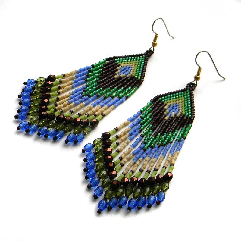 купить серьги в стиле бохо этника стильные украшения ручной работы