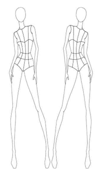 Fashion Model Template Front And Back