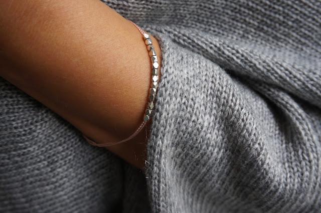 DIY Armband zart und silber