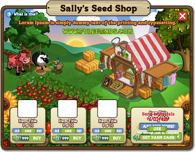 FarmVille Selly's Seed Shop Look Inside