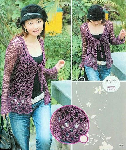 Crochetemoda: Crochet Japonês - Blusas