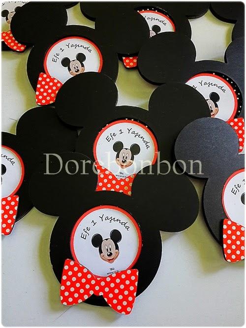 Mickey Mouse  Konseptli Dogumgünü Hediyelikleri