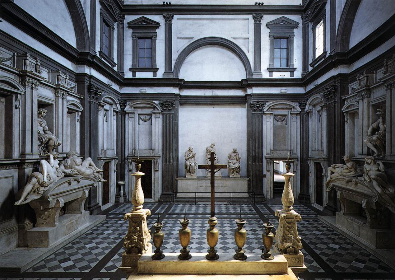 The Medici Chapel at San Lorenzo in Florence. Photo: Web Gallery of Art. Unauthorized use is prohibited.