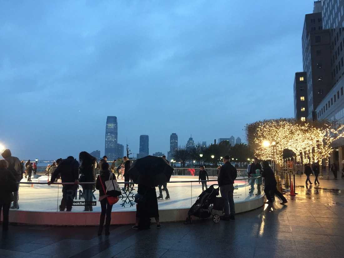 Skating at Brookfield Place, formerly the World Financial Center