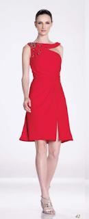 vestido rojo con avertura