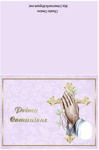 Top il mio angolo creativo: Cartoline Comunione 2 QG53
