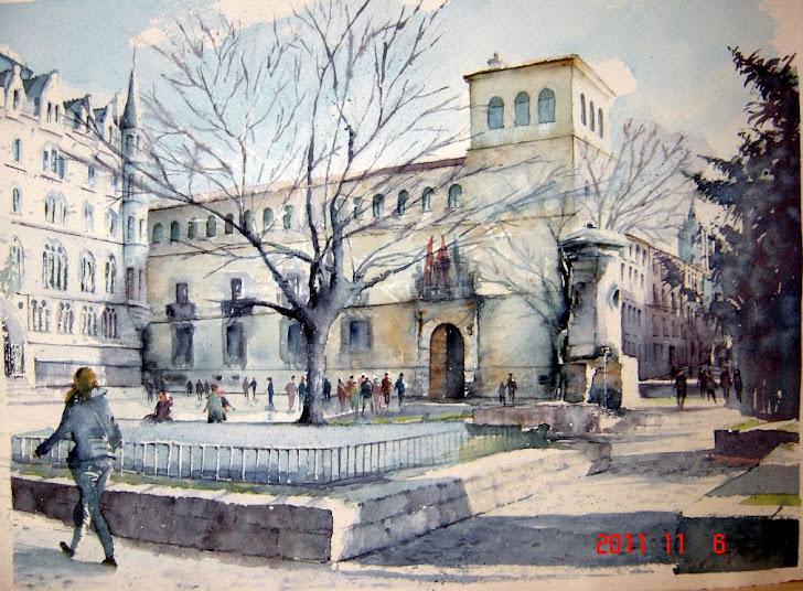 Vista desde la Plaza de San Marcelo. León.