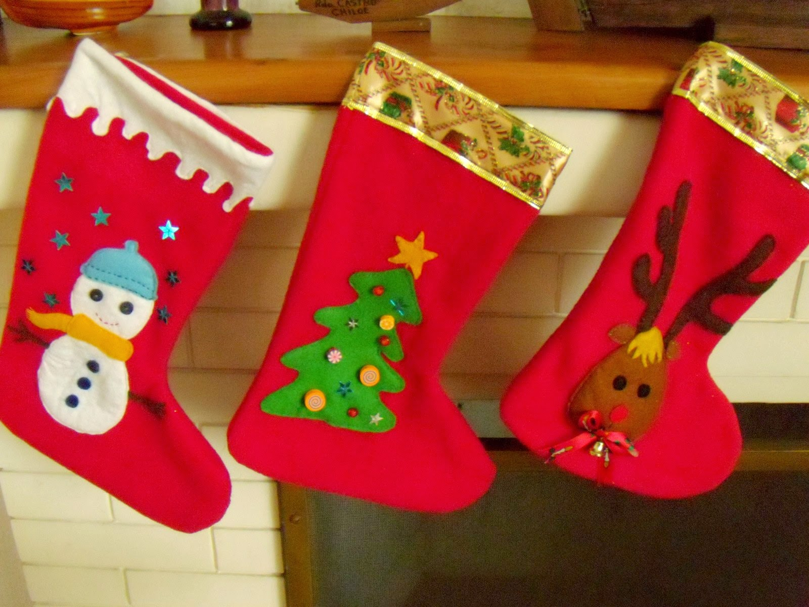imagen de lindas botas navideñas