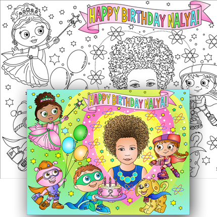 new super why custom coloring page