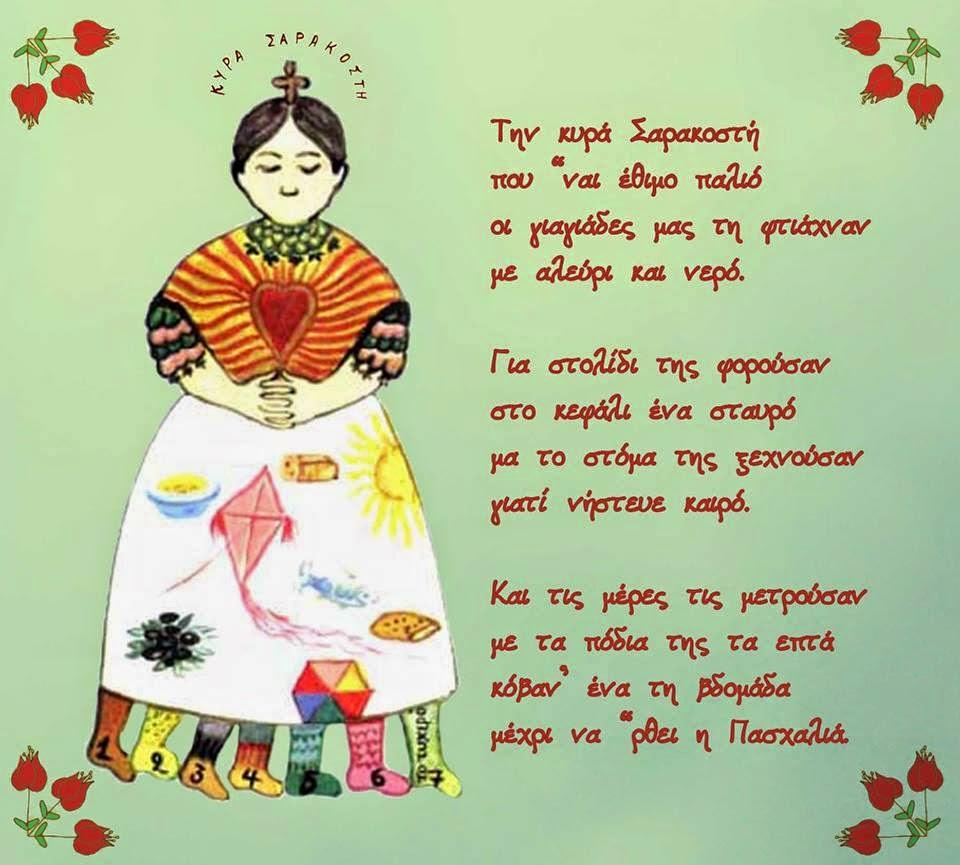 Αποτέλεσμα εικόνας για κυρα σαρακοστη ποιημα