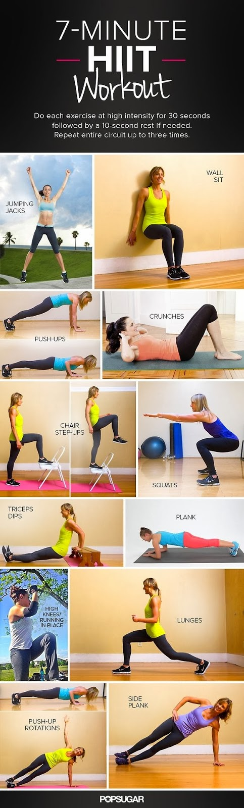 A 7-minute HIIT workout!