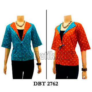 DBT 2762 - Trend Blouse Batik Wanita Terbaru 2013