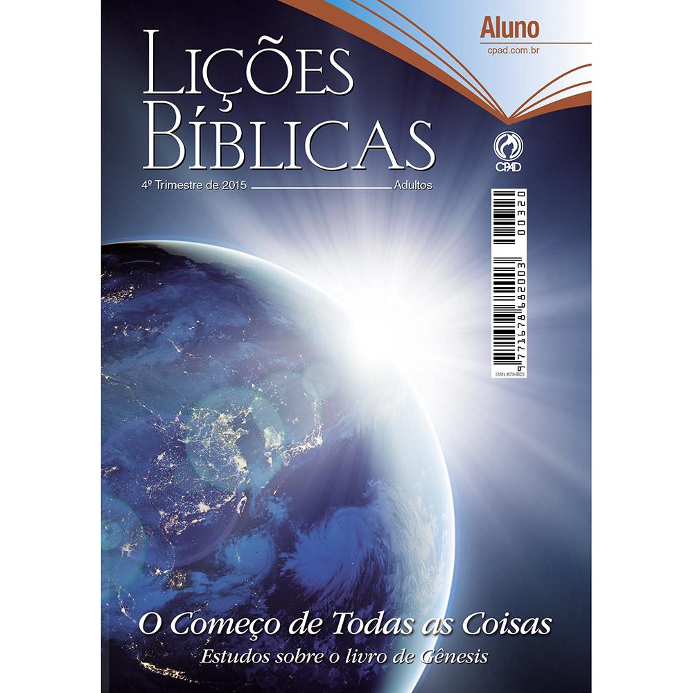 Lições Bíblicas 4º Trimestre de 2015