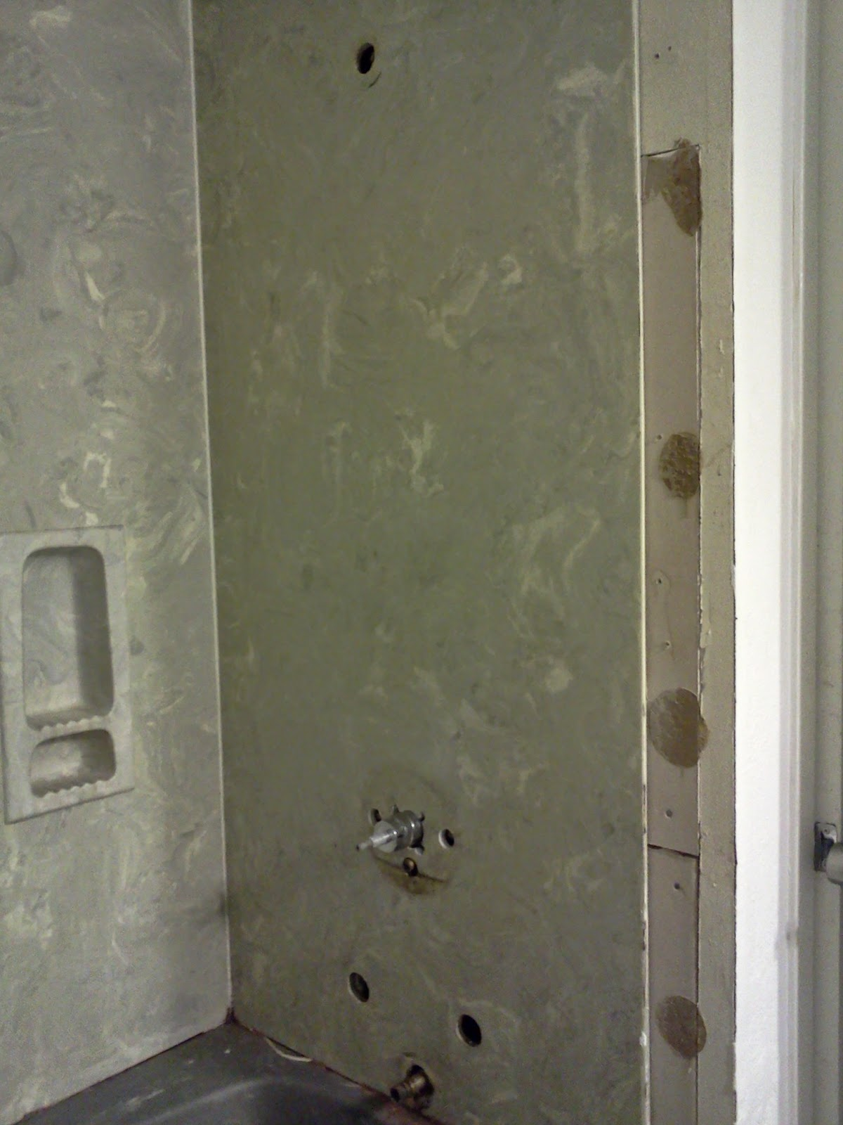demo shower walls