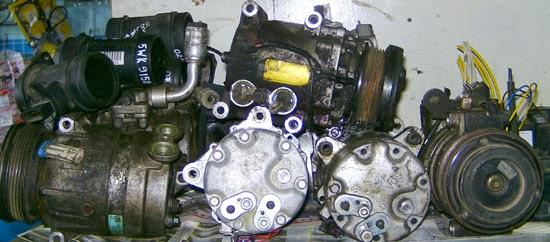 б/у компрессор на автомобильный кондиционер