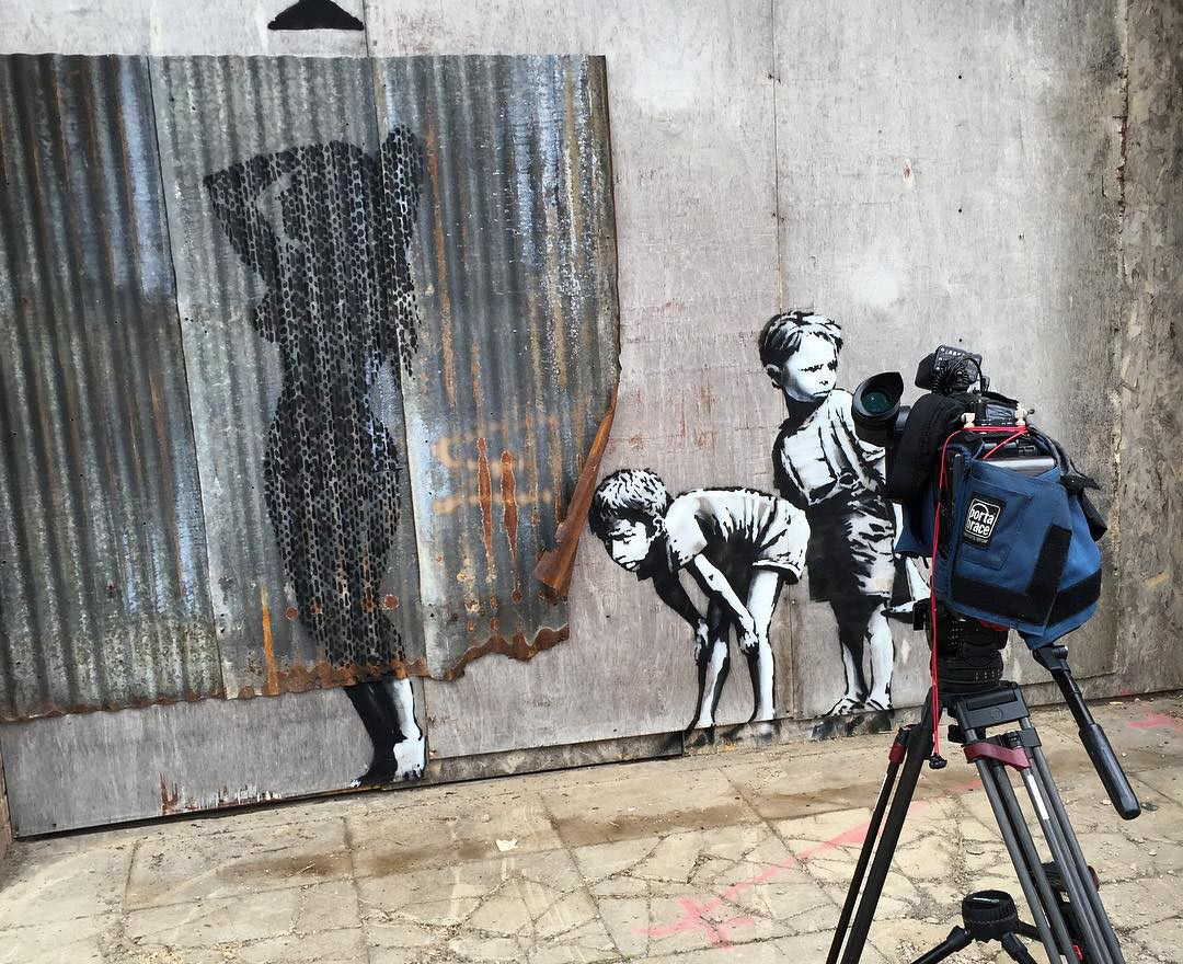 Banksy Creates A New Piece In Weston Super Mare UK For Dismaland