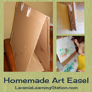 homemade painting easel