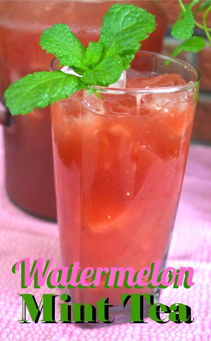 Watermelon Mint Iced Tea, shared by Fluster Buster
