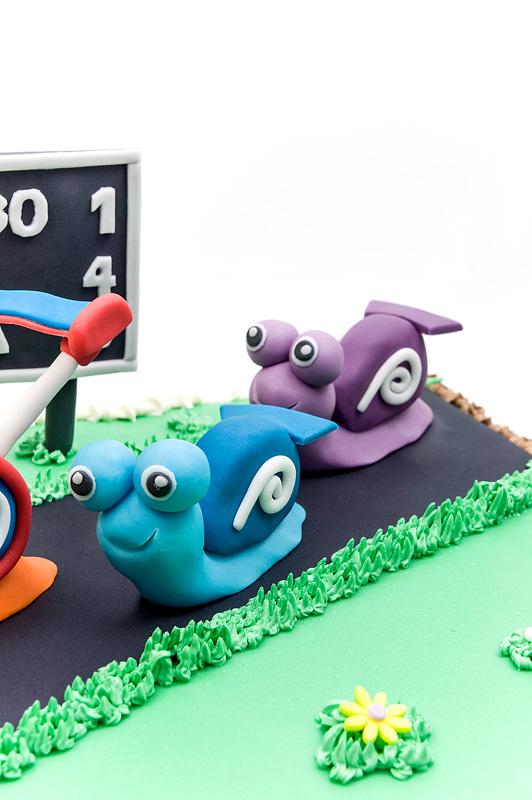 Turbo fondant cake 2nd edition fondant snails close
