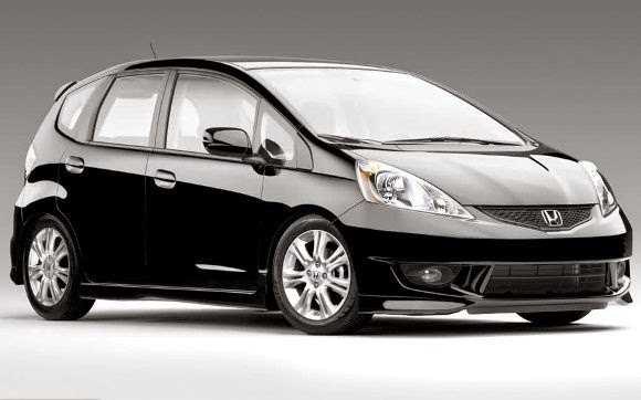 black honda fit model