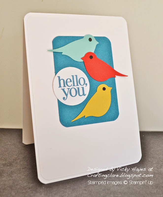 Buy the two step bird punch online from UK independent Stampin' Up demonstrator Vicky Hayes.