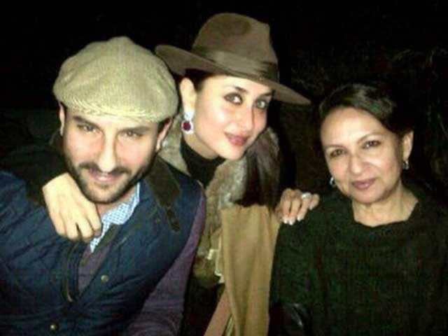Sharmila tagore with saif and Kareena in Rathambore